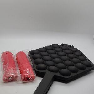 New cast iron bubble waffle maker